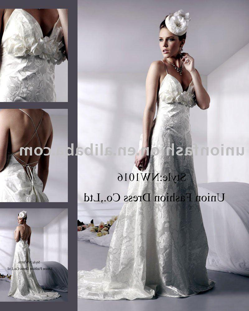 See larger image: backless brocade hot Wedding Dress NW1016