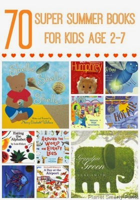 Summer reading recommendations for toddlers, preschoolers. kindergarteners, and older kids, plus an extension project for each recommended book