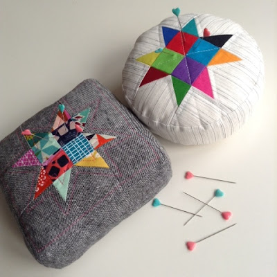 Giant pin-cushions featured in Make Modern Issue 7