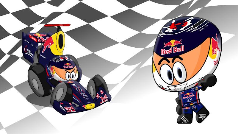 Себастьян Феттель Red Bull на Гран-при Японии 2011 Los MiniDrivers