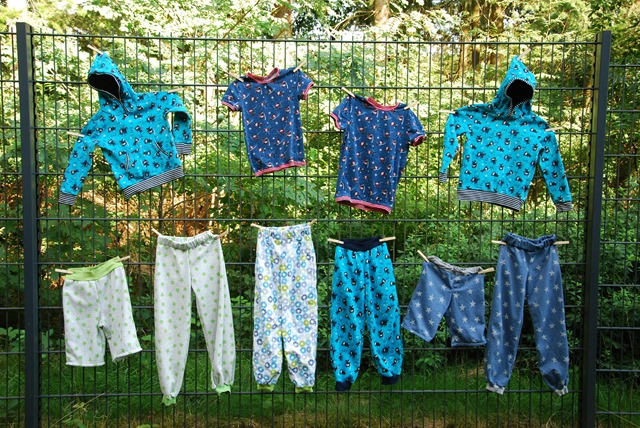clothes on the fence