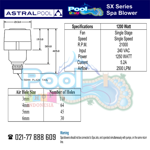 Astral Pool Spa Blower