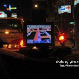 朋友車子上的 GPS 系統,看看就知道車子開到哪裡。晚上 11 時,回到我們入住的天成大飯店。