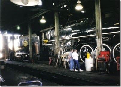 15 Spokane, Portland & Seattle A-1 Class 4-8-4 #700 at the Brooklyn Roundhouse in Portland, Oregon on August 25, 2002