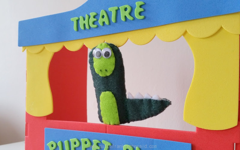 simple dinosaur puppet