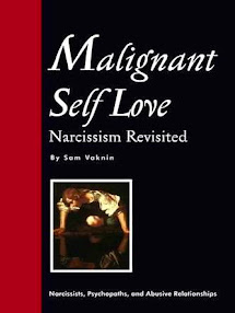Cover of Shmuel Vaknin's Book Malignant Self Love Narcissism Revisited