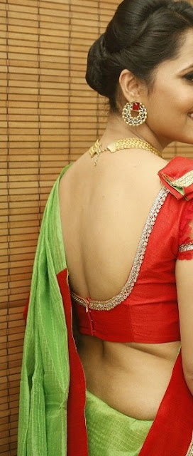 Anasuya backless