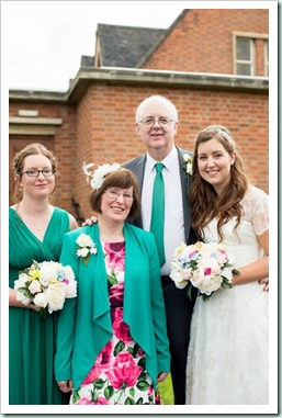 4 of us at wedding