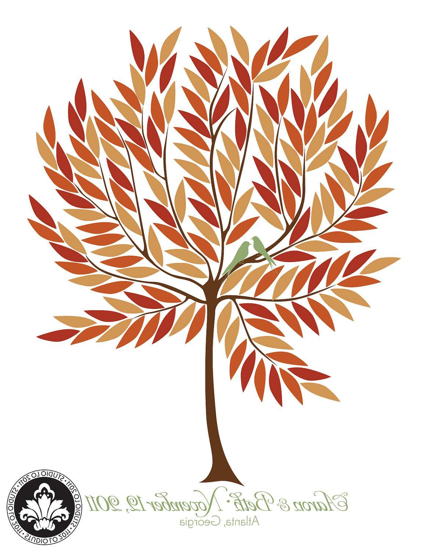 Signature wedding tree in fall colors new autumn design