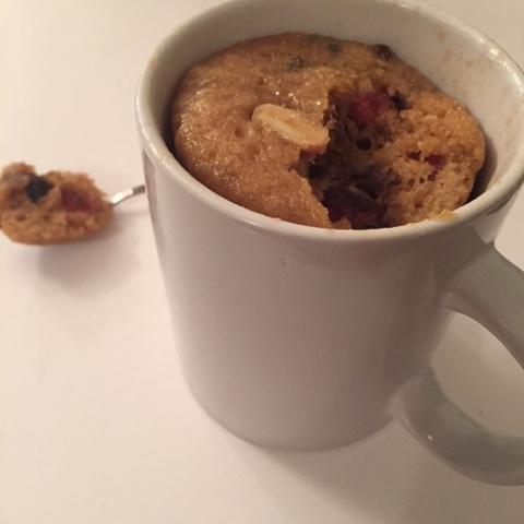 boozy christmas mug cake