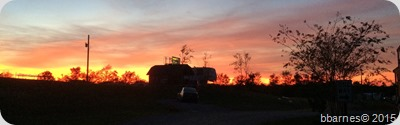Montgomery South RV Park sunset 10112015