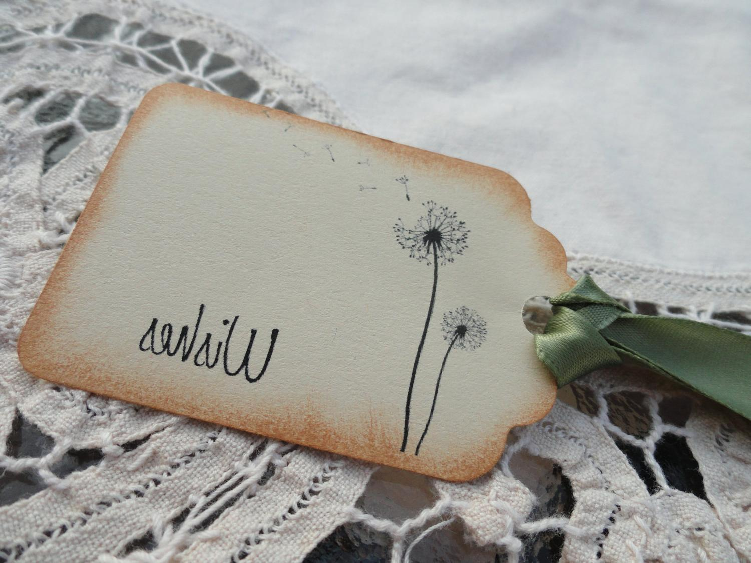 Dandelion Wishes Wedding Wish