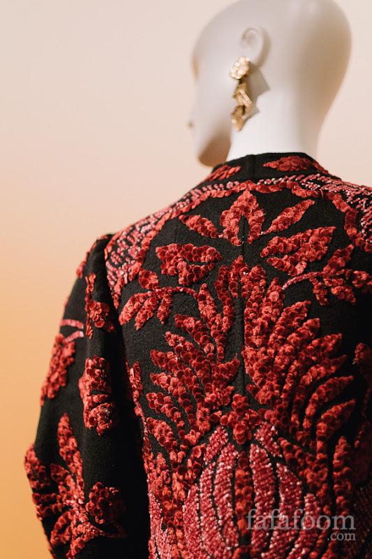 Details of Oscar de la Renta, Day coat, Fall 2008.