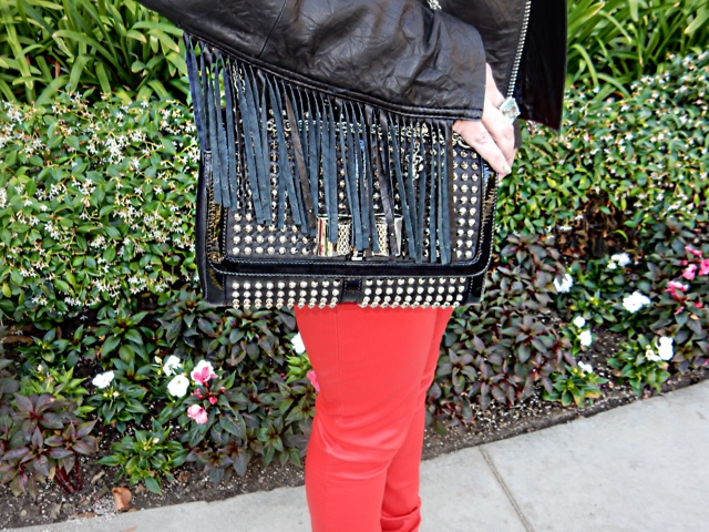 The High Heeled Brunette by Marisa Stewart weating a Sweet Cnarity Bag by Christian Louboutin