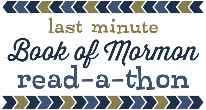 Last Minute Book of Mormon Read-a-Thon Mutual Activity