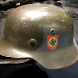 nazi helmet at Dutch National Military Museum Soesterberg in Soest, Utrecht, Netherlands