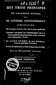 Cover of Jakob Bohme's Book Des Trois Principes de l'essence Divine (1802,in French)