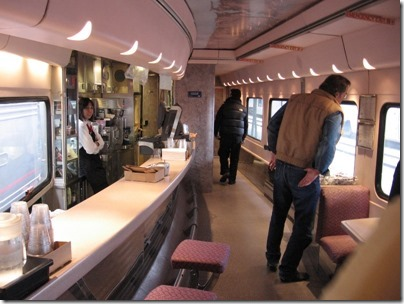 IMG_0699 Amtrak Cascades Talgo Pendular Series VI Bistro Car Interior at Union Station in Portland, Oregon on May 10, 2008