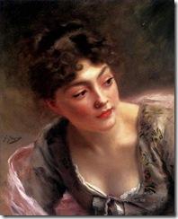 4-A-Quick-Glance-lady-portrait-Gustave-Jean-Jacquet
