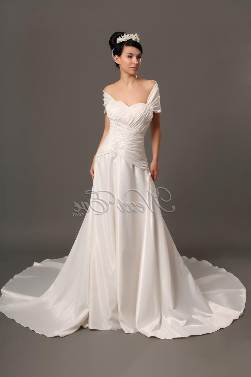 the Shoulder Wedding gown