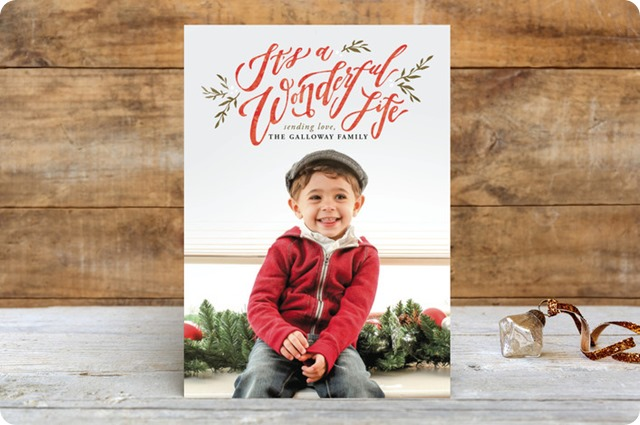 wonderful life minted christmas cards