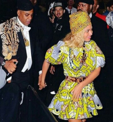 Jayz and Beyonce as the Eddy Murphy and African queen