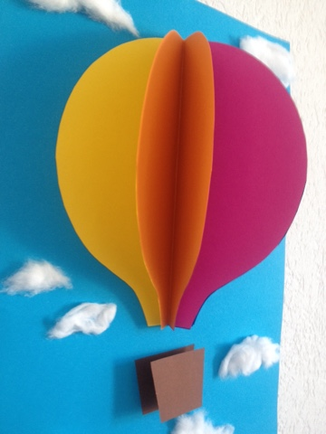 Jane bastelt: Bild fürs Kinderzimmer - Heissluftballon 3D