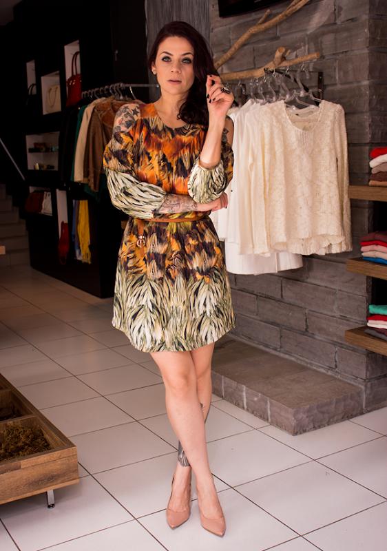 Look vestido curto estampado (5)