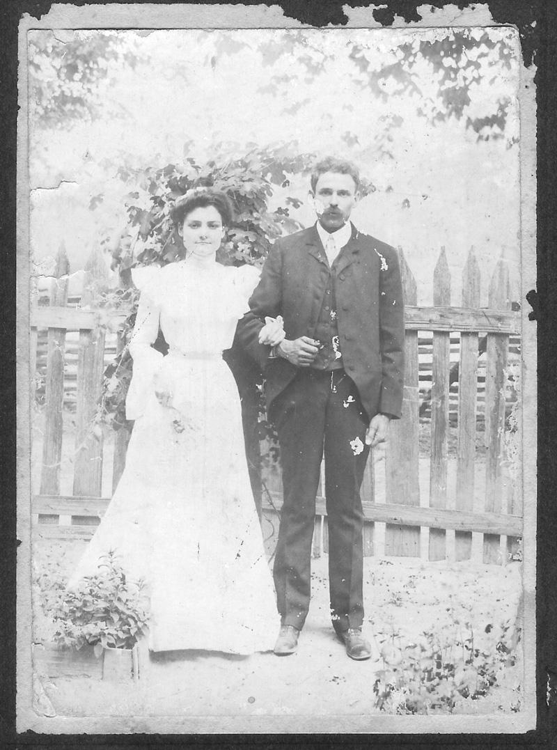 their wedding day, 12 May