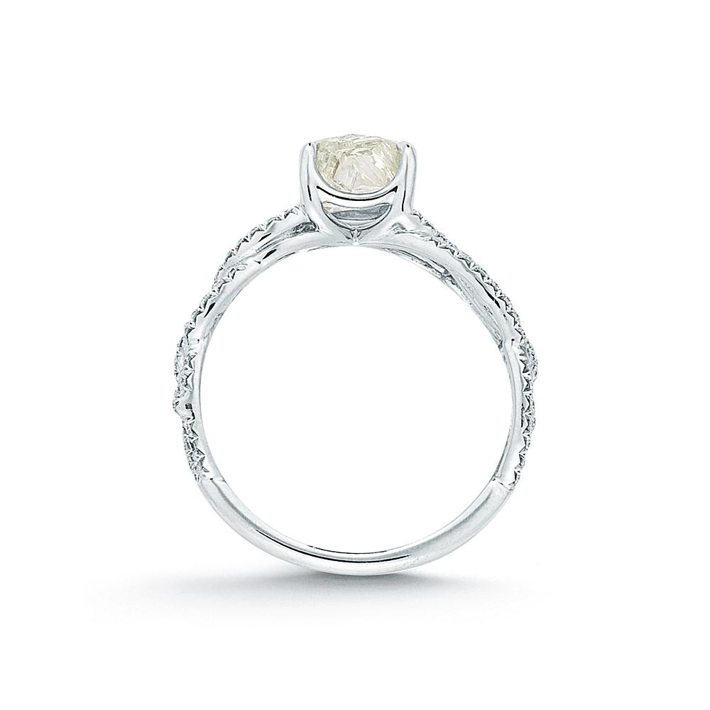 Vine Rough Diamond Engagement