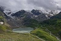 Sustenpaß, Westrampe. Der Steingletscher mit dem Steinsee. Auch er ist über die Jahre merklich geschrumpft.