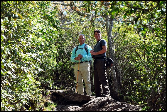 04d - Hike to Mt. Pisgah Summit - Bill and David enjoying the hike