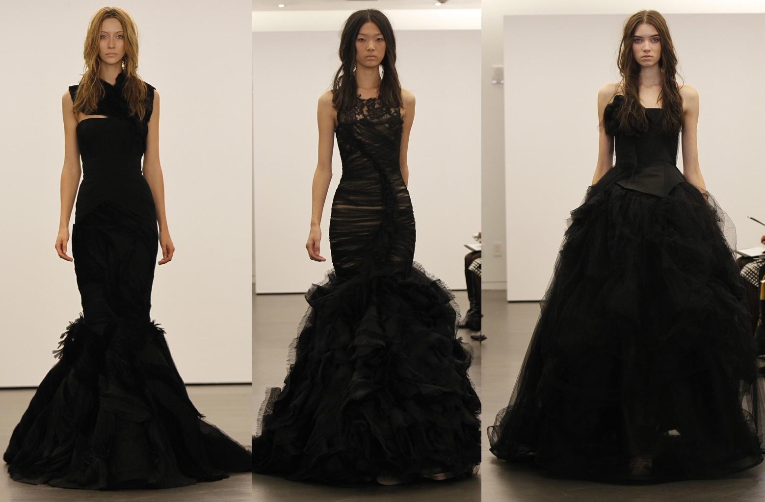 black wedding dresses that