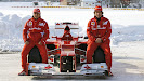 Reveal Ferrari F2012 with Massa & Alonso snow