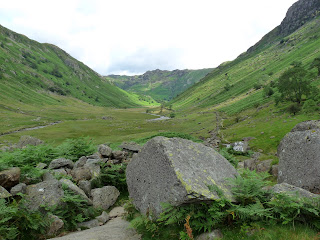 Further up the Langstrath Valley looking back to where we had come from.