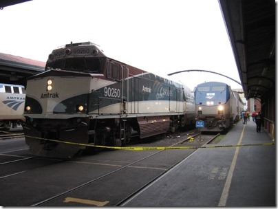 IMG_0729 Amtrak Cascades NPCU #90250 & Amtrak P42DC #95 at Union Station in Portland, Oregon on May 10, 2008