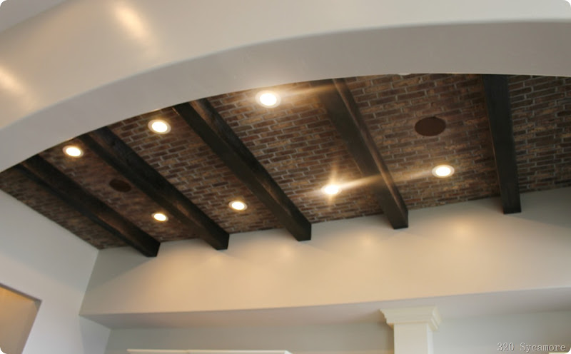brick ceiling treatment