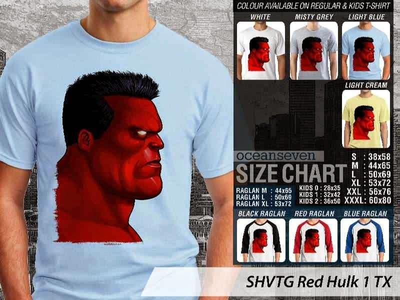 Kaos Superhero Red Hulk 1 TX distro ocean seven