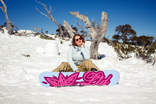 A Vintage Girl Goes Snowboarding | Lavender & Twill
