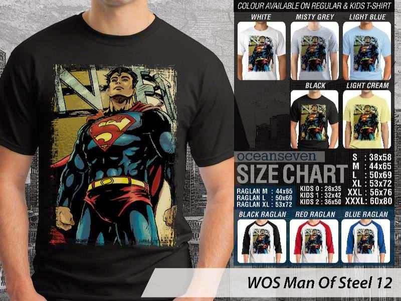 Kaos Superman Hitam Man Of Steel 57 Movie Series distro ocean seven