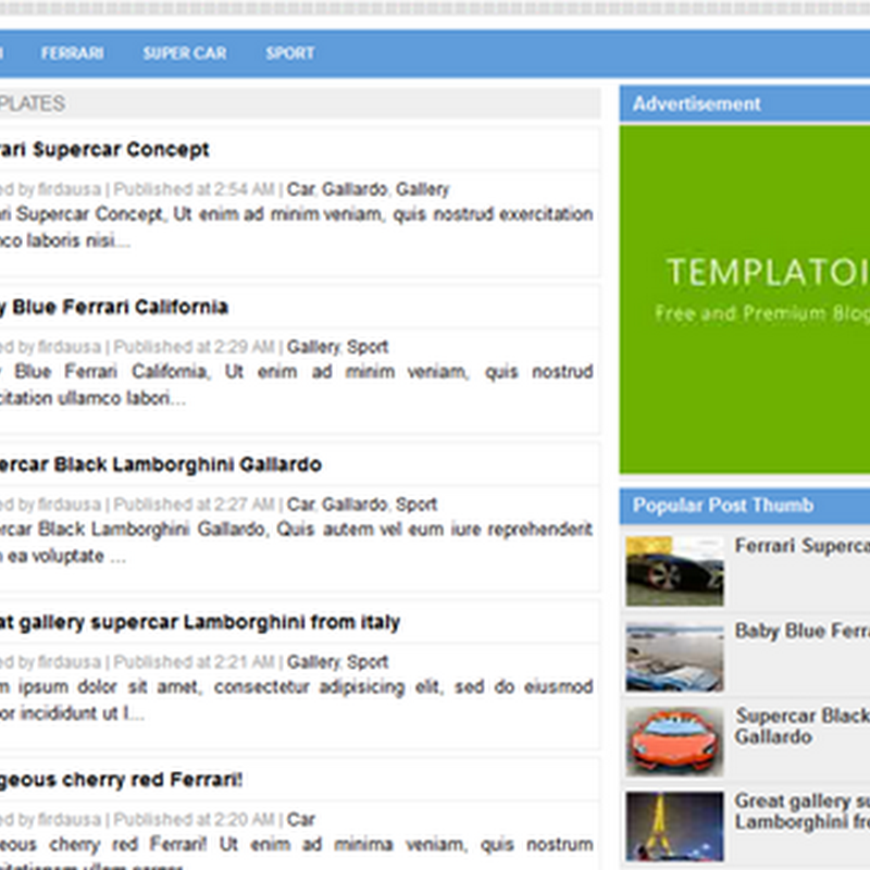 Simple Sense Template Blogger Responsive Full SEO