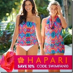 Hapari Swimwear - 2015 Discount Code