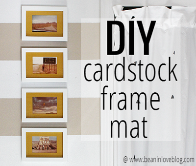 diy cardstock frame mat