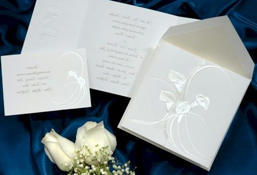 Calla Lily Marquis Wedding Invitation. Due to differences in individual