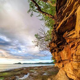 Punta calavera la roca by Annette Flottwell - Landscapes Beaches ( water, guancaste, roca, playa, mar, punta calavera, norte, rocks )