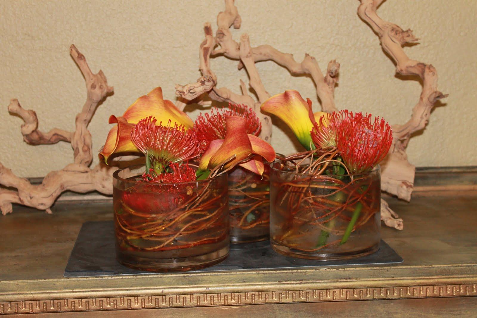 calla lilies centerpieces