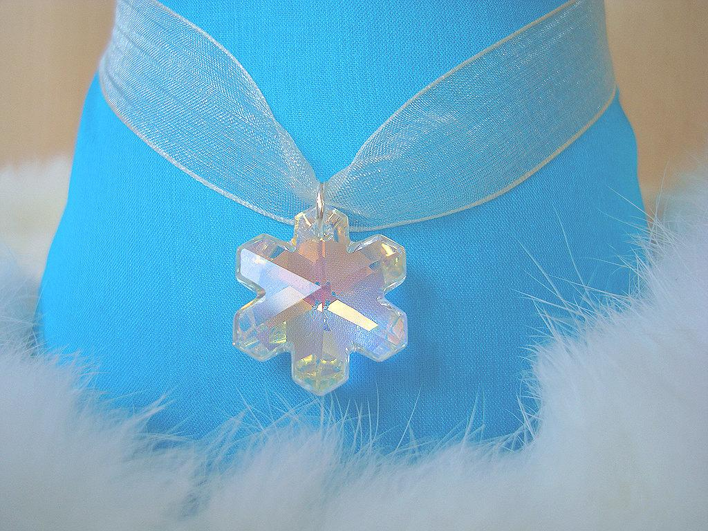 Winter Wedding Bridesmaid Gifts Swarovski Snowflake Necklace,