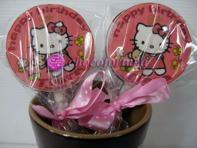 Coklat Edible Ultah Kitty Birthday Ulang Tahun