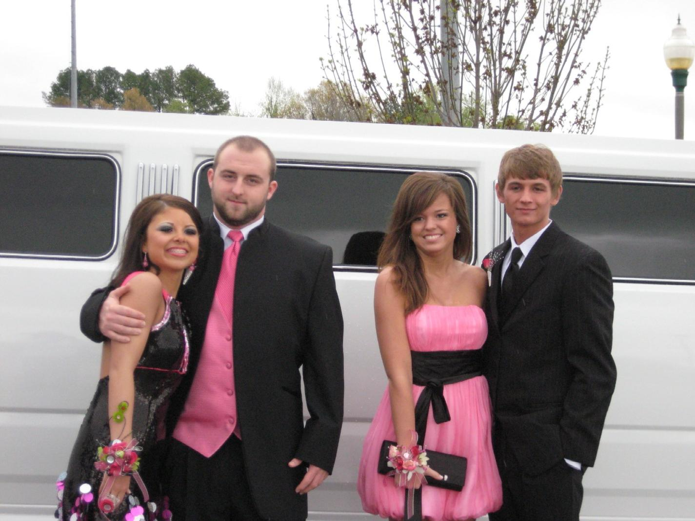 Two Couples Departing For Prom