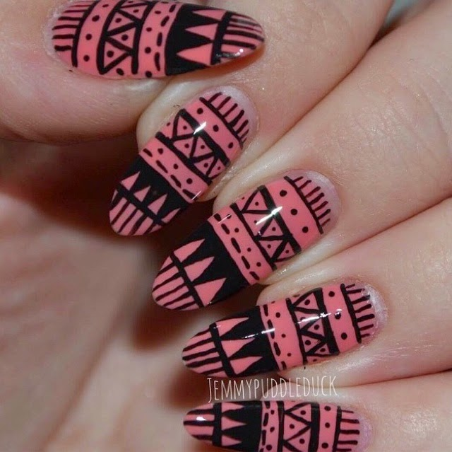 Puddleducks Nail Posts: Aztec & Floral studed nails